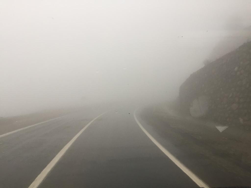 Sincik'te yoğun sis