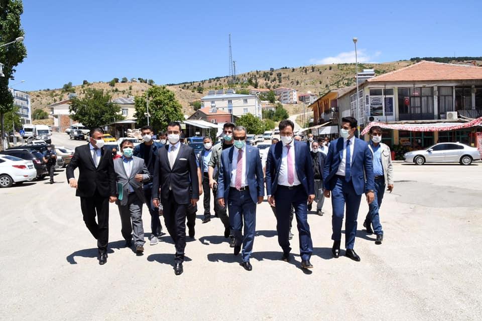Vali Mahmut Çuhadar, Sincik ilçesini ziyaret etti